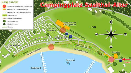 Lageplan Campingplatz Saalthal-Alter